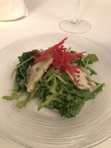 グリーンオリーブとささみのハム、季節野菜のサラダのコピー