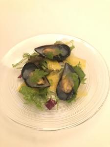 ムール貝のサラダ仕立て